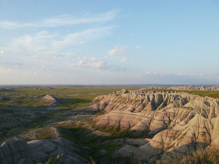 Rock formations in landscape
