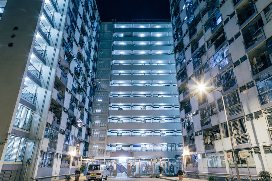 take a walk Architecture Cityscapes Discover Your City HangLeungPhotography Hong Kong Night Scene Order Public Housing The Changing City
