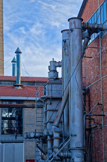 Athens Greece Gazi, Industrial museum Industry Factory Building Exterior Architecture Sky Built Structure Smoke Stack No People Pipe - Tube Cloud - Sky Industrial Building  Metal Nature Day Fuel And Power Generation Outdoors Technology Connection Storage Tank Low Angle View Pollution Power Supply