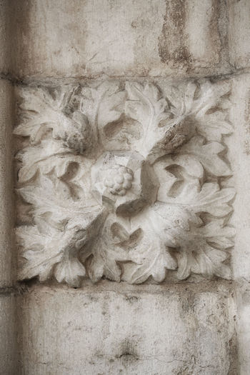Bas Relief Belém Carved Carved Flower Close-up Creativity Decoration History Monastery Wall - Building Feature