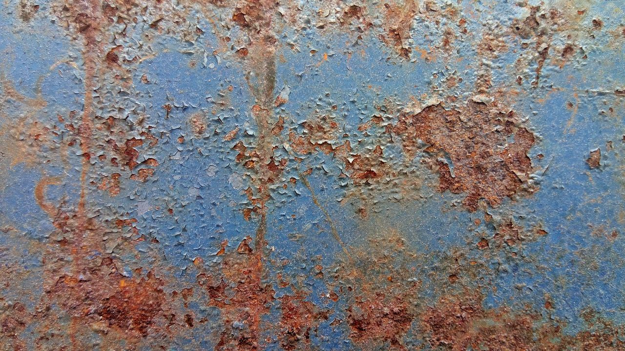 backgrounds, textured, rough, blue, weathered, full frame, no people, built structure, rusty, close-up, architecture, outdoors, day