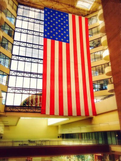 Flag Flag Of Usa USA FLAG Flagsoftheworld The Galleria Mall Houston Texas Big Flag Flag Of America American Flag BIG Bigsize LargeSize Bigger Than You Think National Flag Nationality Patriotism Respect For Country Respect For Flag Nopeople
