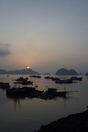 traveling Vietnam 2018 ASIA Travel Traveling Vietnam Beauty In Nature Dusk Explore Fishing Industry Idyllic Mode Of Transportation Nature Nautical Vessel No People Outdoors Reflection Scenics - Nature Sea Silhouette Sky Sunset Tranquil Scene Tranquility Transportation Water Waterfront