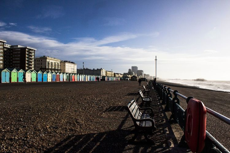 Brighton Brighton And Hove Brighton Beach Brighton Pier Architecture Built Structure City Day Outdoors Nature Brighton 360 Brighton Beach Boxes Beach Huts