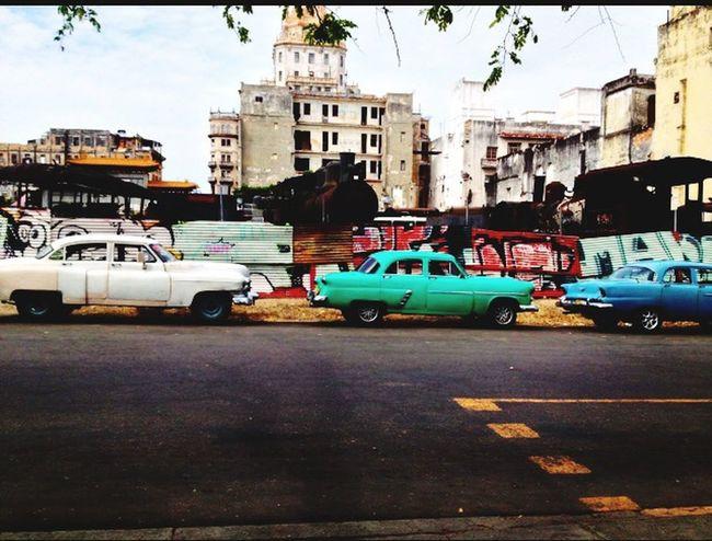 Cuba Cars Havanna Street Colors Tags Travels