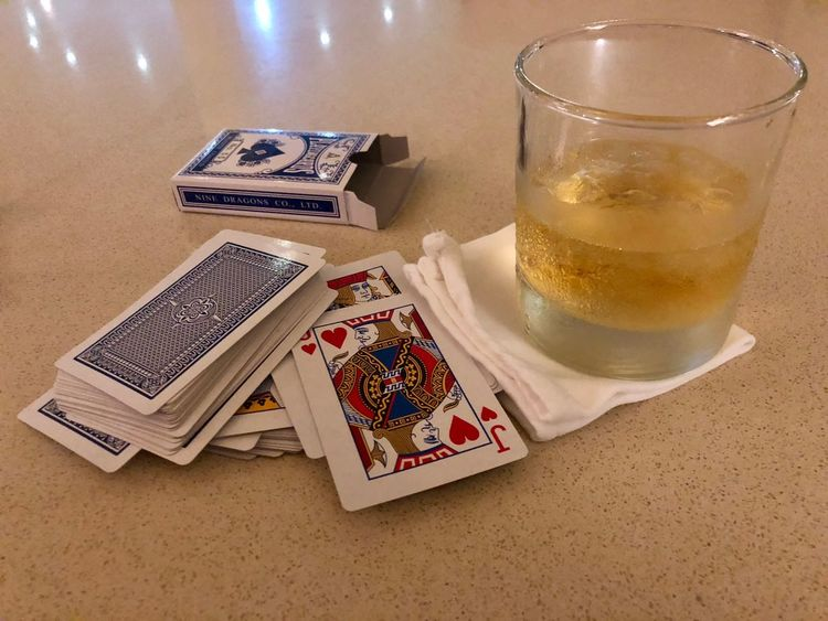 Whisky and Cards EyeEm Selects Table Indoors  Still Life Drink Food And Drink Refreshment High Angle View No People Glass Cards Leisure Games Gambling Close-up Drinking Glass Luck Relaxation Alcohol