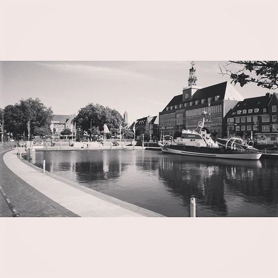 Emden Delft Emden Delft Ostfriesland Northcoast Germany Blackandwhite Rathaus Cityhall Thursday Bw Heimat