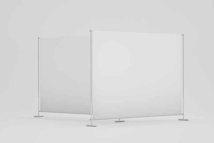 View of white wall in museum