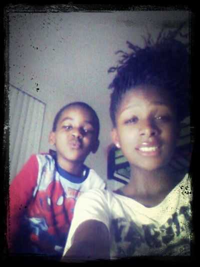 Me && my babby brother (: