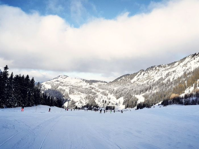 Skiing Ski Flaine Flainefrance Cloud - Sky Mountain Snow Nature Beauty In Nature Shades Of Winter