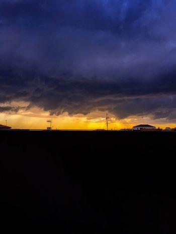 Storm Storm Cloud Storm Cloud - Sky Sun Sunset Clouds And Sky Sky Colors Colorful Silhouette