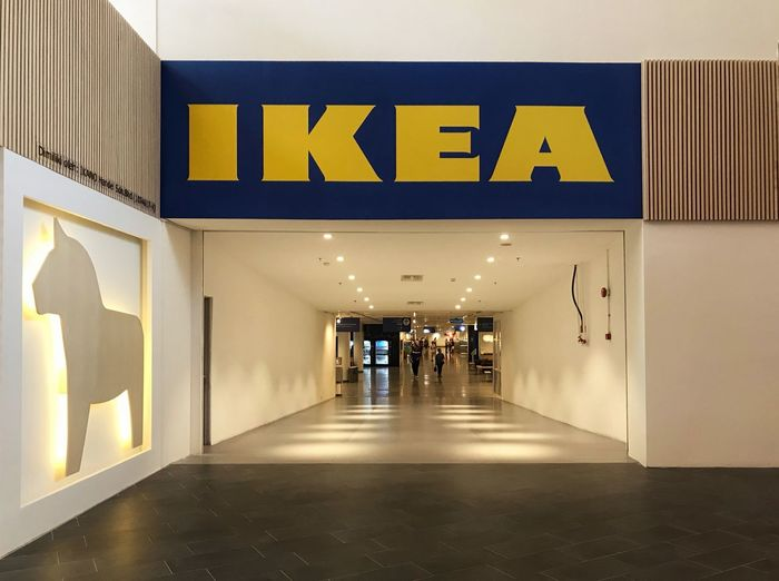 Furniture Shopping Door Entrance Entrance Ikea Malaysia IKEA Illuminated Text Ceiling Communication Architecture