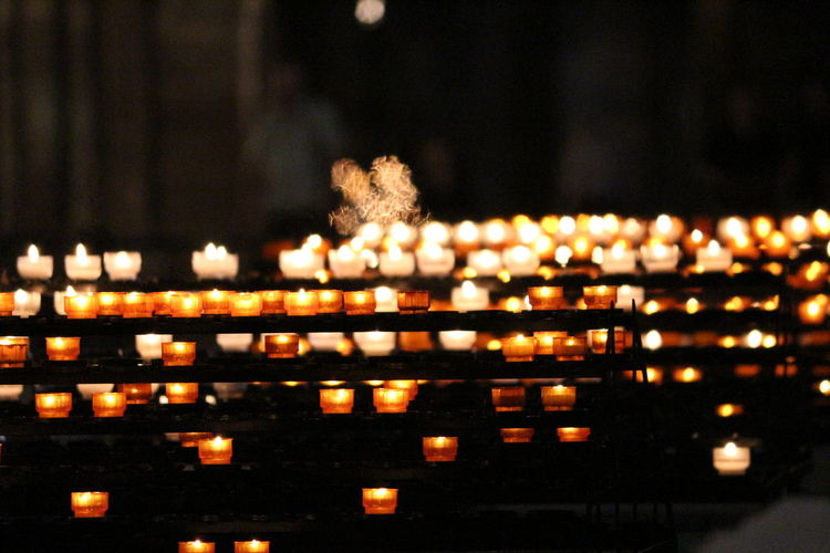 Candle Candle Flame Candle Light Candle Night Candlelight Candles Candles.❤ Church Church Interior Flame Flame Focus On Foreground Lit Mysteriousness Night Place Of Worship Religious Offering