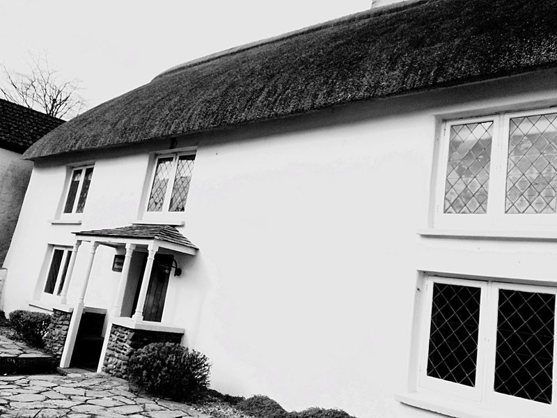 Thatch cottage ideal Building Exterior Architecture Built Structure House Window Low Angle View No People Residential Building Outdoors Tree Sky Day Thatched Roof Thatch Thatched Cottage Holiday Devon
