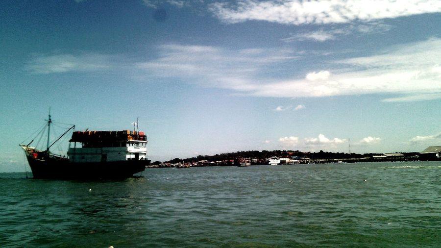 Sea corner at Kampong Bugis, Tanjungpinang