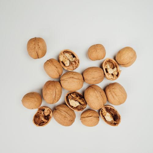 Brown Close-up Food Freshness Nut Nut - Food Still Life Walnut White Background