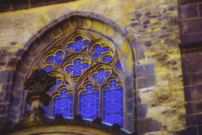 Prague Church Architecture Window Stainedglass Medieval Architecture