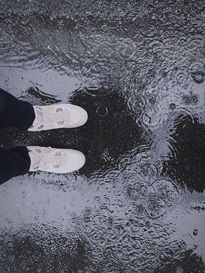 Rain Rainy Days Rainy Day Sneaker Sneakers Sneakerhead  White White Shoes
