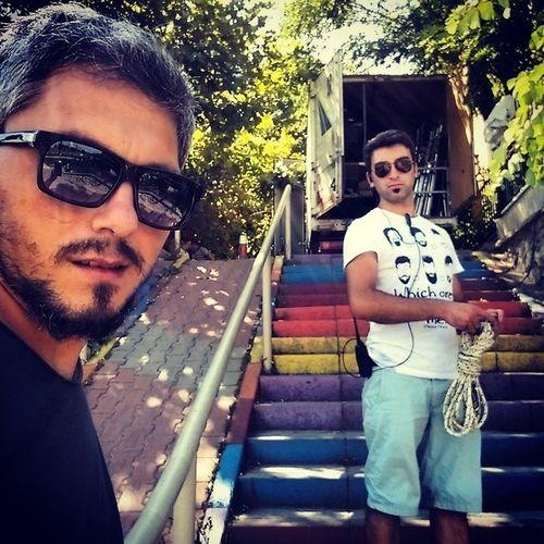 Sakali ile sinek kaydi :):) Set Kacakgelinler Isik Isikci ayak merdiven rengarenk modasahili modasahil kadikoy istanbul