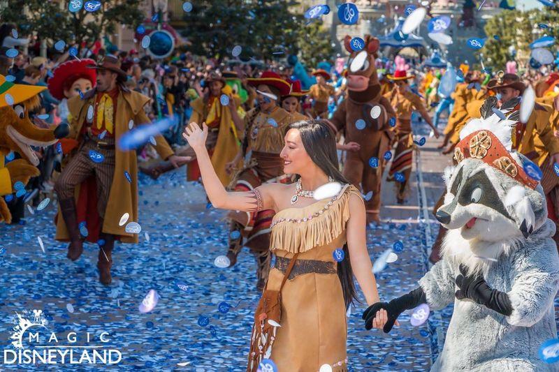 Celebration Large Group Of People Pocahontas  Celebration Travel Destinations Disneyland Women Amusement Park Disneyland Paris Disneylandparis 25thanniversary Disneyland Resort Paris Disney