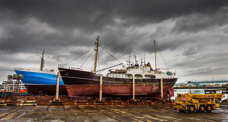 Old Harbor Transportation Mode Of Transportation Cloud - Sky Water Harbor Sea Industry Ship Shipping  Sailboat Shipyard Fishing Industry Business