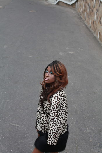 Young woman standing on street