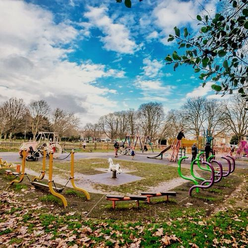 The Places I've Been Today and not only because I am there on the swings with my son...every day Child Playground Saturation Colourful Swing Park London Blue Sky Urban Life Urban Landscape Landscapes With WhiteWall