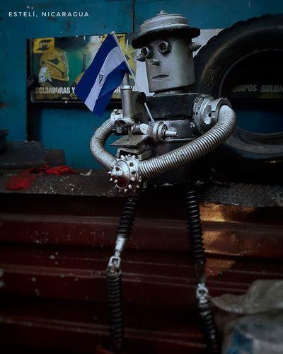 Nicaragua EsteliNicaragua Patria Business Finance And Industry Close-up Latch