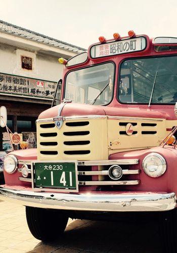 豊後高田市 昭和の町 ボンネットバス Transportation Mode Of Transport Land Vehicle Day Outdoors No People EyeEm Fujifilm_xseries Fujifilm X-E2 豊後高田市 Retro EyeEm Gallery