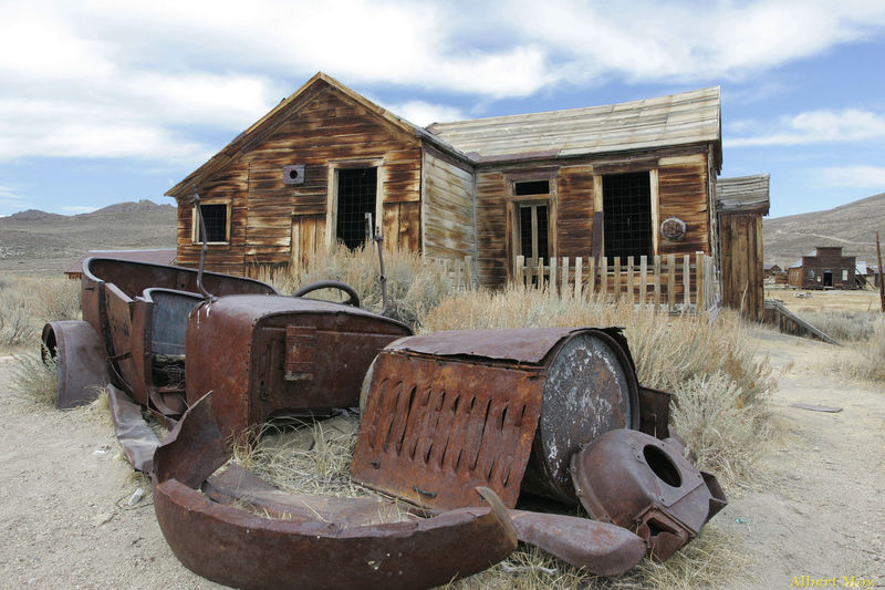 Ghost town of Bodie at an elevation about 8400 feet or 2550 meters give interesting photography result. Home sweet home, maybe not. Abandoned Automobile Bad Condition Built Structure Cloud Cloud - Sky Cloudy Damaged Day Deterioration Ghost Town Home Junkie Landscape No People Obsolete Old Outdoors Run-down Sky The Old West The Past