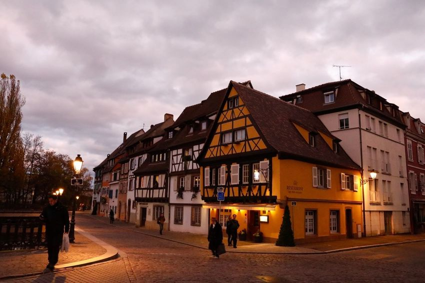 Colmar France Colmar Architecture Architecture_collection Architecture Autumn🍁🍁🍁 Cloud And Sky Traveling Traveling Photography Landscape Landscape_photography Street Photography Night Shot Night At Colmar Night Photography Night Lights