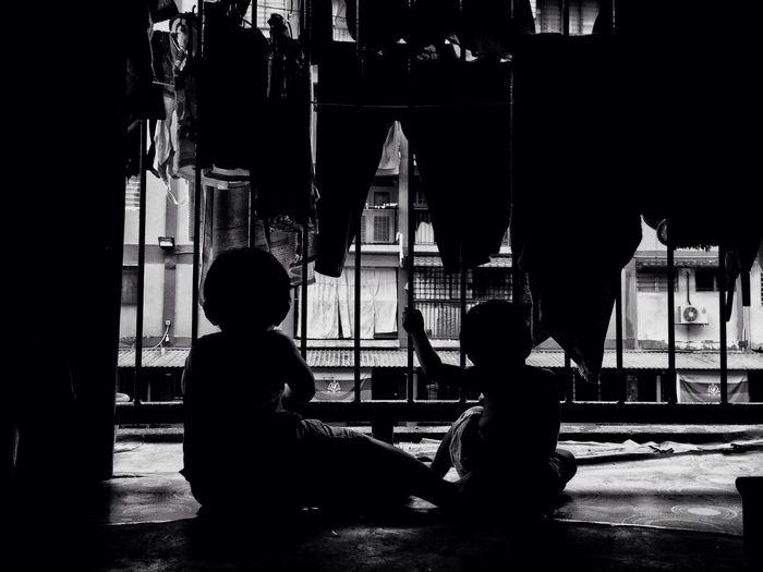 Childhood Kids Future Blackandwhite Children Daydreaming EyeEmNewHere EyeEmNewHere Welcome To Black