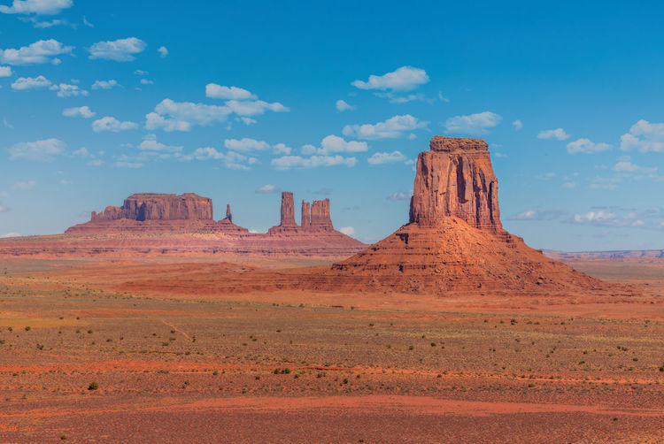 The monuments of the monument valley