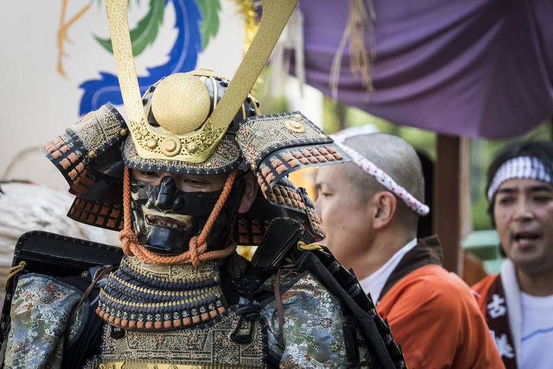 Armor Army Army Soldier Day Japanese Armor Large Group Of People Men Military Military Uniform Outdoors People Real People Togetherness Yoroi