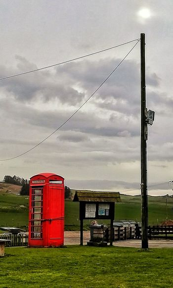 Phonebox Tied Up Telegraph Pole Camping Trip