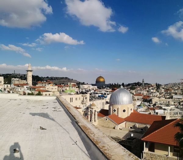 Jerusalem panorama with dome of the Rock and Mount of Olives Old Town Jerusalem Jerusalem Israel Jerusalem Old City Dome Of The Rock Dome Of The Rock Jerusalem EyeEm Selects City Cityscape Dome Sea Place Of Worship Beach Town High Angle View Religion History Roof Old Town Roof Tile Cupola TOWNSCAPE Rooftop Tiled Roof  Bell Tower Human Settlement Residential Structure Housing Settlement Chimney