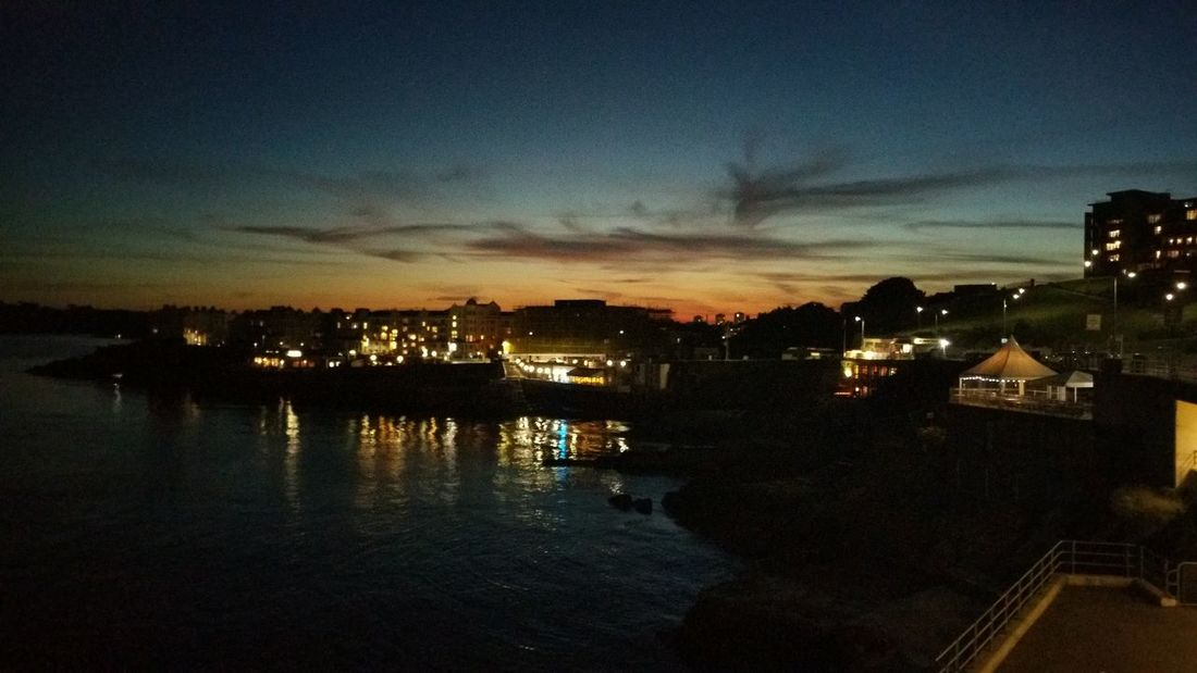 Plymouth Hoe by night Water Sunset Outdoors Cloud - Sky Illuminated Night Nature