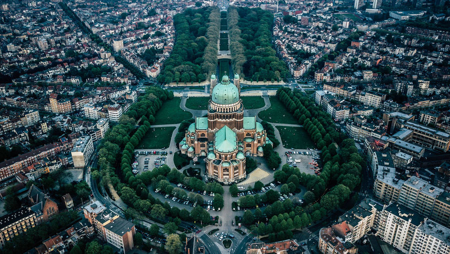 Basilica Brussels Architecture Belief Building Building Exterior Built Structure City Cityscape Day High Angle View Luxury Nature No People Outdoors Religion Spirituality Tourism Travel Travel Destinations