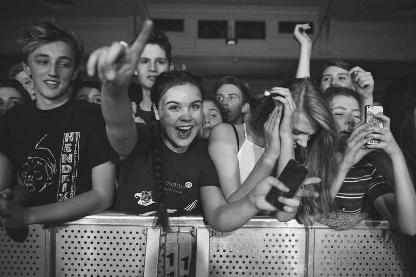 Peace live at O2 Academy Brixton. Not seen a crowd like this in ages. Young kids being pulled out. London Taking Photos EyeEm Best Shots Music Photography  For The Love Of Music Black And White Portrait