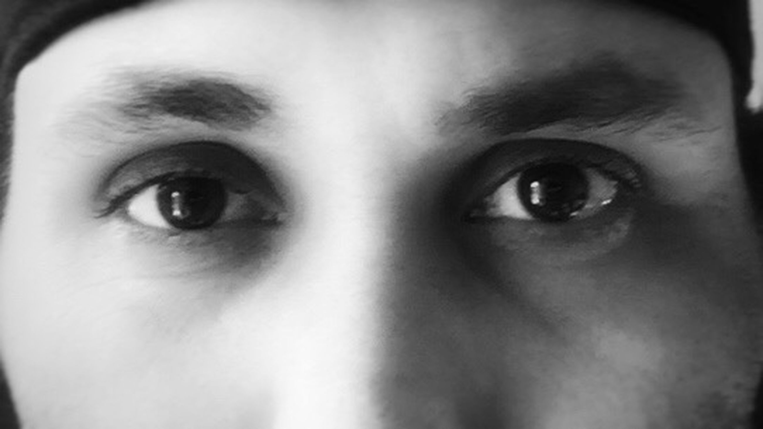 human body part, body part, human face, one person, portrait, human eye, looking at camera, close-up, eye, young adult, front view, adult, fear, women, indoors, eyebrow, emotion, eyesight, contemplation, beautiful woman