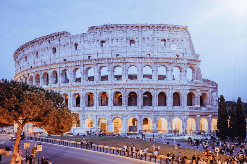 Amazing Ancient Arch Architecture Architecture Blue Blue Hour Blue Sky City Colosseo Culture Famous Place History International Landmark Landscape Light Lights Rome Sky Tourism Tourist Travel Destinations Wonder