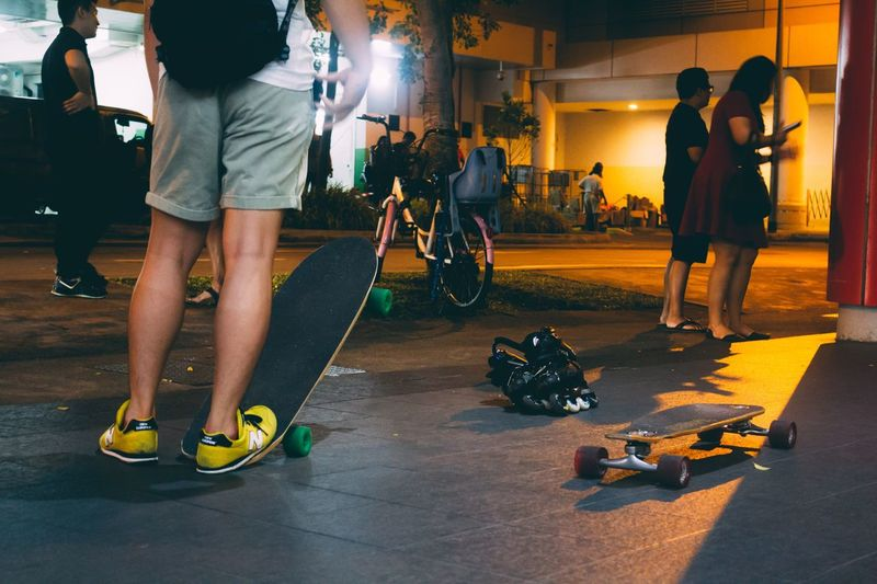 Overnight Success Low Section Lifestyles Leisure Activity Person Men Casual Clothing Playing City Human Foot City Life Outdoors Performance Embrace Urban Life EyeEm Diversity Resist The Secret Spaces Neon Life