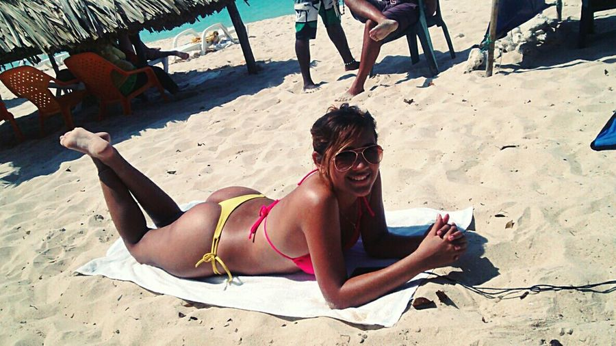 Endless summer ?? !! Sun Bathing Tanning Summer ☀ Playa Blanca Latina ♥ Life Is A Beach Relaxing I Love Colombia