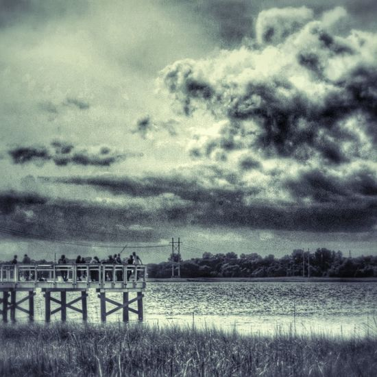 Congregation on the pier. Cloud And Sky Cloudporn Duo-tone EyeEm Charleston
