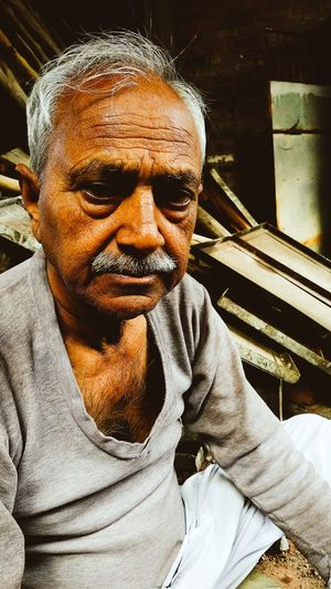 Indian Ethinic This Is Aging Men Portrait Sitting Senior Adult Senior Men Front View Mustache Looking At Camera Close-up Thoughtful Thinking Human Face Attractive Eyebrow First Eyeem Photo