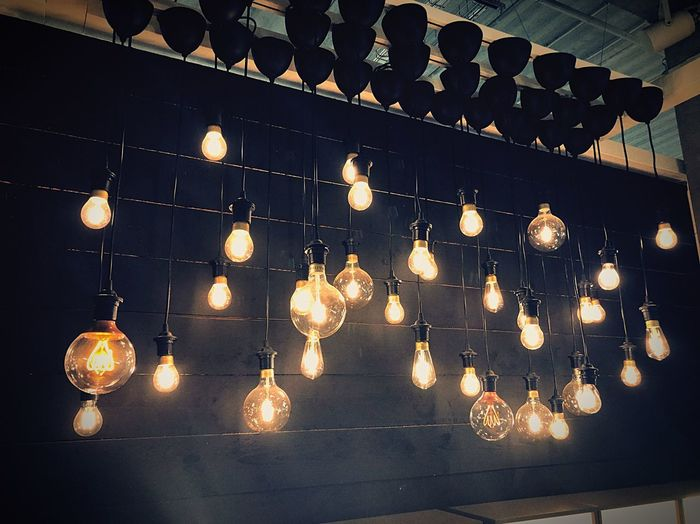 Let it be light Lighting Equipment Illuminated Hanging Decoration No People Low Angle View Pattern Night Glowing Light Electricity  Electric Light Design Light - Natural Phenomenon Indoors