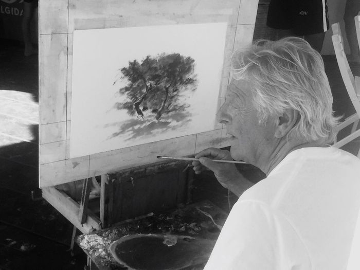 Painting Old Man Artist Taking Photos Love Photo Love Photografy What A Wonderful World Summer Paint Painter
