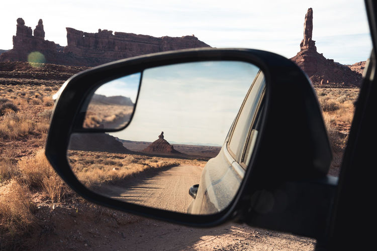 Transportation Car Sky Motor Vehicle Side-view Mirror Nature No People Reflection Outdoors Close-up Mirror