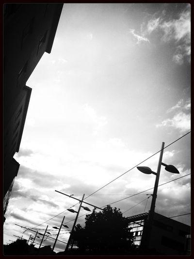 Simmering Street Vienna Black And White