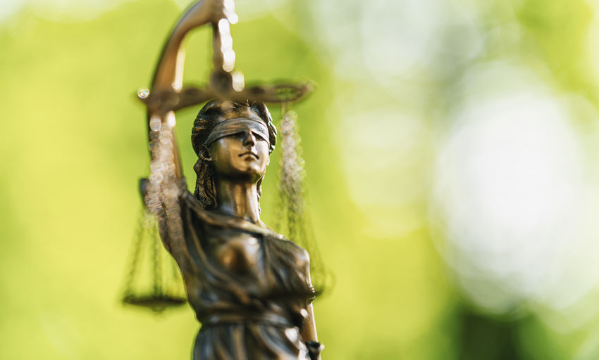 Close-Up Of Lady Justice